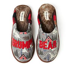 Dearfoams Alpine Print Family Mood Bear Scuff - Grumpy