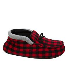 Dearfoams Boys Holiday Plaid Bootie Slipper