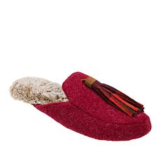Dearfoams Felt Mule Slipper with Tassel
