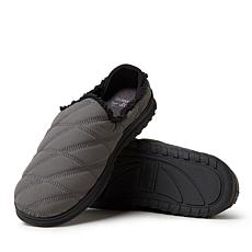 Dearfoams Men's Quilted Nylon Clog with Collapsible Heel