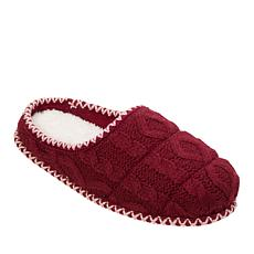 Dearfoams Quilted Cable Knit Clog