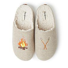 Dearfoams Womens Autumn Microwool Molded Footbed Clog Slipper