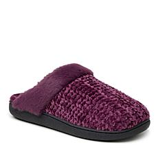 Dearfoams Women's Chenille Knit Scuff Slippers