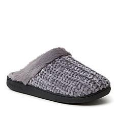 Dearfoams Women's Chenille Knit Scuff Slippers