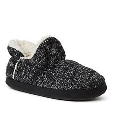 Dearfoams Women's Jade Marled Ragg Knit Bootie Slipper