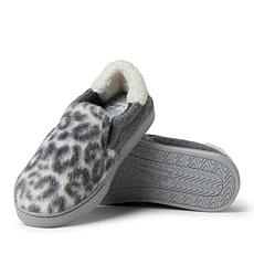 Dearfoams Women's Leopard or Microwool Twin Gore Closed Back Slippers