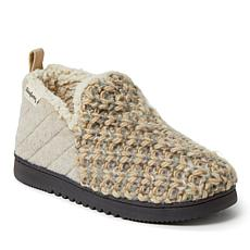 Dearfoams Women's Sweater Knit and Microwool Bootie