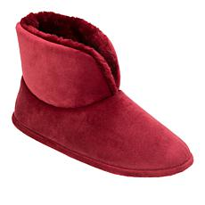 Dearforms Tall Velour Ankle Slipper