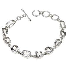 "Deb Guyot 19.25ctw Herkimer ""Diamond"" Quartz Multicut Station Bracelet"