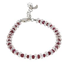"Deb Guyot Herkimer ""Diamond"" Quartz and Pink Tourmaline Bracelet"