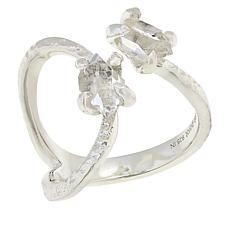 "Deb Guyot Herkimer ""Diamond"" Quartz Wavy Texture Ring"