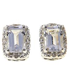 Deb Guyot Herkimer Quartz & White Topaz Stud Earrings