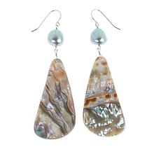 Deb Guyot Studio Cultured Pearl and Abalone Drop Earrings