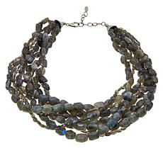 Deb Guyot Studio Labradorite Beaded Multi-Strand Necklace