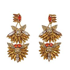 "deepa by Deepa Gurnani®  ""Fabia"" Double Drop Earrings"