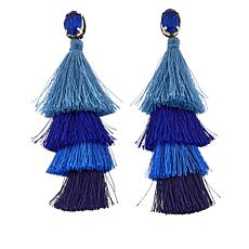 "deepa by Deepa Gurnani® ""Isabeli"" Tiered Tassel Earrings"