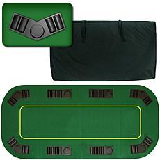 """Deluxe Texas Holdem Folding Poker Tabletop - 80"""""""