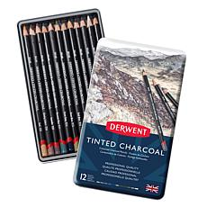 DERWENT 12-piece Tinted Charcoal Pencil Set