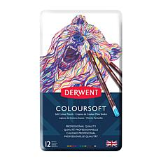 DERWENT Coloursoft 12-piece Colored Pencil Set