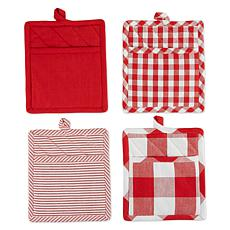 Design Imports 4-piece Assorted Check Potholder Set