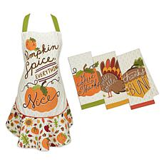 Design Imports 4-Piece Pumpkin Spice Baking Set