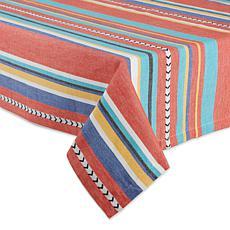 """Design Imports 52"""" x 52"""" Verano Stripe Tablecloth"""