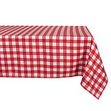 "Design Imports 60"" x 120"" Red Check Outdoor Tablecloth"