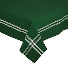 "Design Imports Balsam Border Stripe Tablecloth - 60"" x 104"""