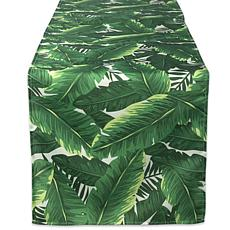 "Design Imports Banana Leaf Outdoor Table Runner - 14"" x 108"""