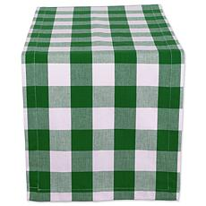 "Design Imports Buffalo Check 14"" x 108"" Table Runner"