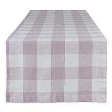 "Design Imports Buffalo Check Table Runner - 14"" x 108"""