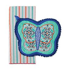 Design Imports Butterfly Potholder Gift Set