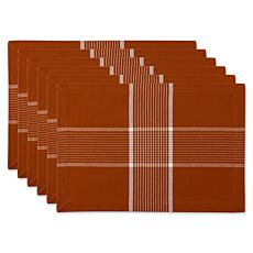 Design Imports Check Placemats 6-pack