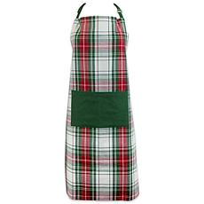 Design Imports Christmas Plaid Chef Apron