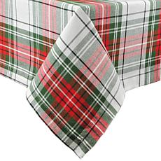 Design Imports Christmas Plaid Tablecloth 60-inch by 84-inch