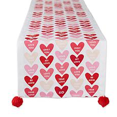"Design Imports Conversation Hearts Table Runner 14""x72"""