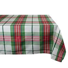 Design Imports Cozy Christmas Plaid Tablecloth 52-inch x 90-inch