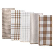 Design Imports Farmhouse Woven Kitchen Towel 5-pack