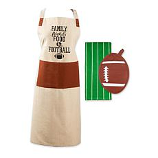 Design Imports Football Kitchen Gift Set of 3