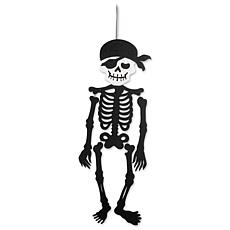 Design Imports Hanging Foam Pirate Skeleton
