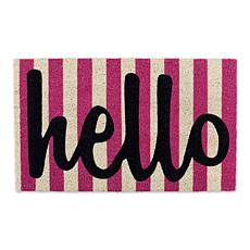 Design Imports Hello Stripes Doormat