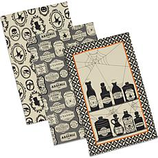 Design Imports Hocus Pocus Print Kitchen Towel Set of 3