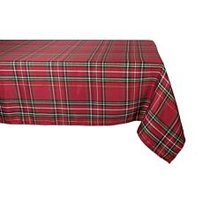 "Design Imports Holiday Metallic Plaid Tablecloth 60"" x 120"""
