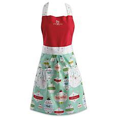 Design Imports Holiday Ornaments Skirt Christmas Apron