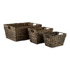 Design Imports Hyacinth Baskets 3-pack