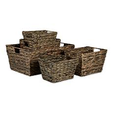 Design Imports Hyacinth Baskets 5-pack