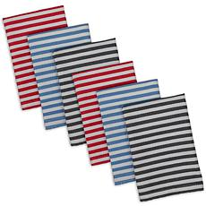 Design Imports I Love Paris Striped Heavyweight Dishcloths 6-pack