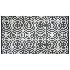 Design Imports Infinity Circle Outdoor Rug 4' x 6'