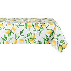 "Design Imports Lemon Bliss Print Outdoor Tablecloth - 60"" x 120"""