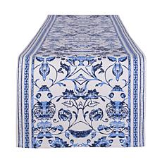 """Design Imports Madiera Print Table Runner 14"""" x 108"""""""